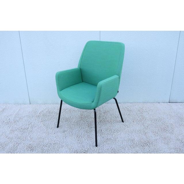 Modern Brian Kane for Coalesse and Steelcase Bindu Green Guest Chair For Sale - Image 13 of 13