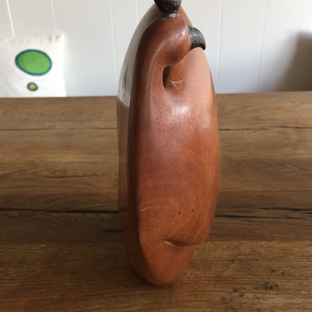 Vintage Mid-Century Wood Rooster Sculpture - Image 5 of 10
