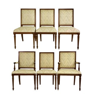 1960s Vintage Louis XVI Dining Chairs- Set of 6 For Sale