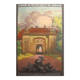 Original 1930s French Travel Poster, Phalsbourg For Sale