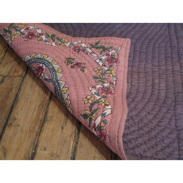 Quilted Prayer Rug For Sale - Image 10 of 10