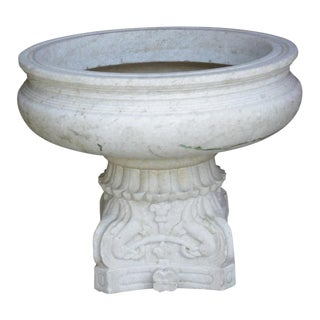Hand-Carved Marble Bowl For Sale