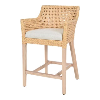 Blora Counter Chair, Beige, Rattan For Sale