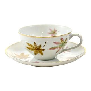 Autumn Leaf Porcelain Cup & Saucer