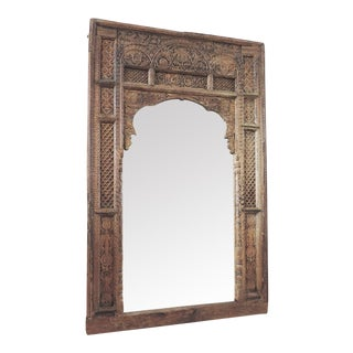 Antique Carved Doorway Mirror