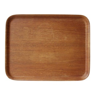 Vintage Nordika Molded Teak Wood Serving Tray Idg Ary Fanerprodakter Made in Sweden For Sale