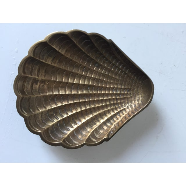 Vintage Brass Shell Dish - Image 4 of 6