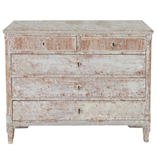 18th Century Swedish Gustavian Period Commode in Original Paint For Sale