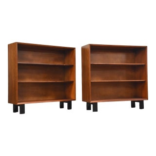 1960s George Nelson for Herman Miller Walnut Bookcases - a Pair For Sale