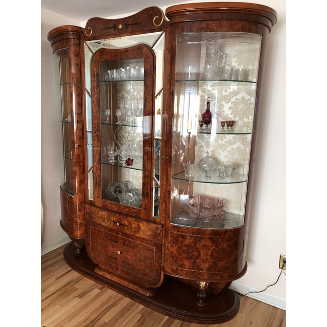 Metal Imported Italian China Cabinet For Sale - Image 7 of 7