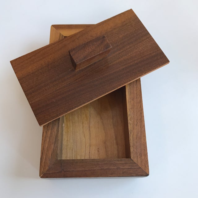 Handmade Lidded Wood Box For Sale - Image 5 of 7