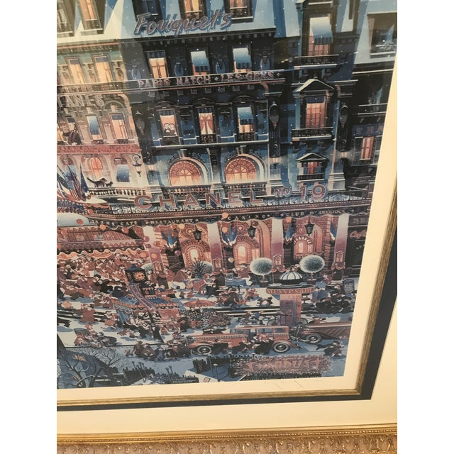 "1980s Yamagata Lithograph Titled "" City Lights"" For Sale - Image 4 of 7"