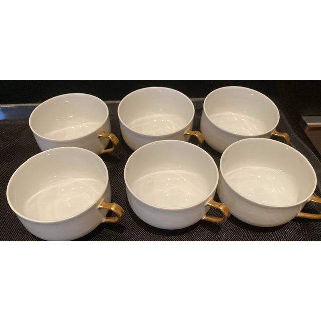 Haviland & Co Limoges France Porcelain Cups. Set of 6 Beautiful cups from France with gold handle. Excellent condition....