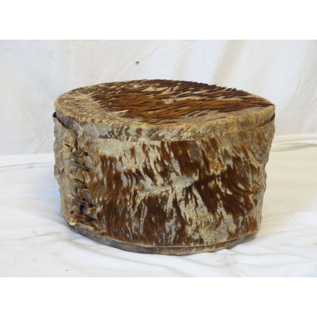 Lodge Animal Hide Drum For Sale - Image 3 of 5