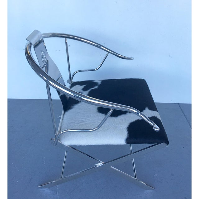 Stainless Steel Modernist Lounge Chair - Image 4 of 7
