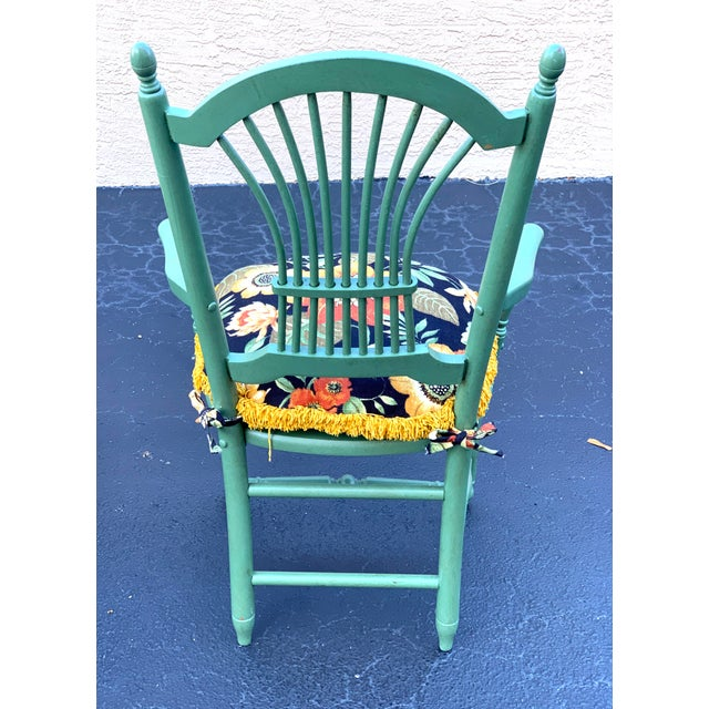Green 1990s Vintage Nichols & Stone French Country Dinning Chairs- Set of 8 For Sale - Image 8 of 12