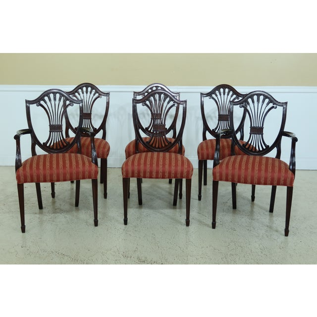 Stickley Shield Back Mahogany Dining Room Chairs - Set of 6 For Sale - Image 13 of 13