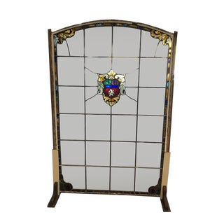Spanish Revival Bay Window Arched Stained Glass