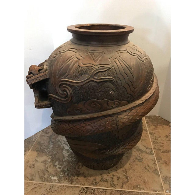 Chinese Terracotta Dragon Floor Vase For Sale In New York - Image 6 of 8