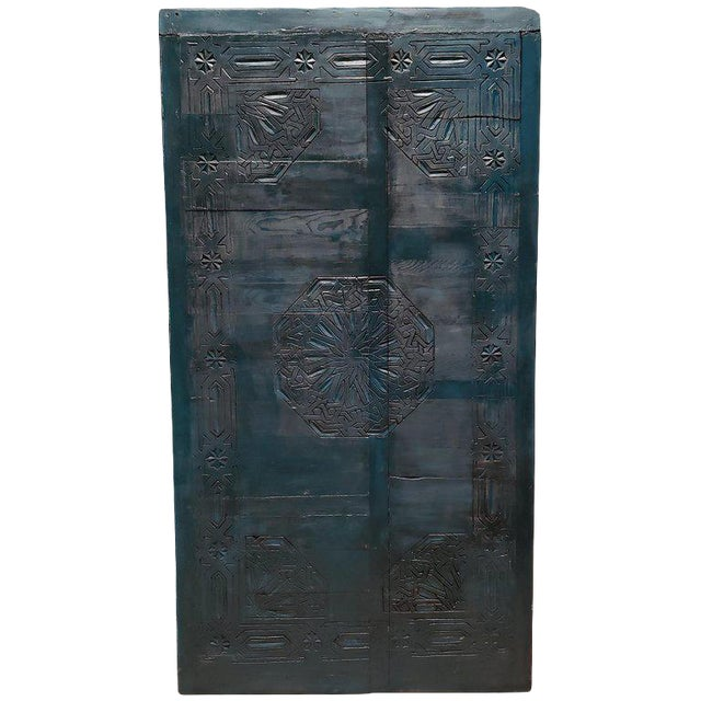 21st Century Vintage Moroccan Wooden Panel For Sale
