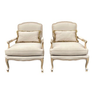 Harris Marcus Home Italian Bergere Chairs - a Pair For Sale