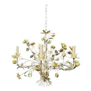 Vintage Italian Floral Chandleier For Sale