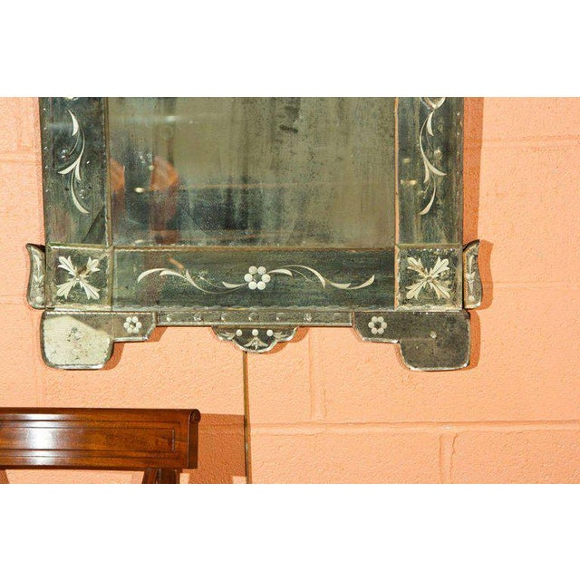 Glass Pair of German Clear Center Venetian Style Mirrors For Sale - Image 7 of 11
