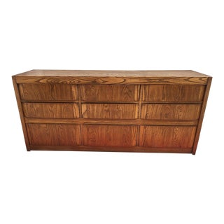 Mid-Century Thomasville Brutalist Credenza/Dresser For Sale