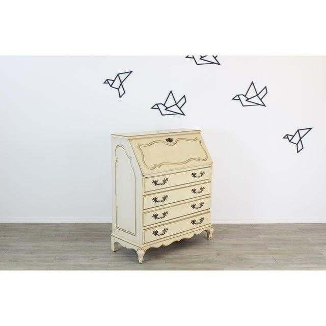 Traditional Traditional Secretary Desk, Cream Secretary Desk For Sale - Image 3 of 12