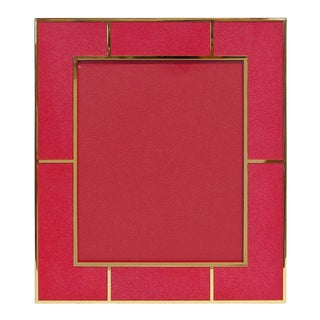 Red Shagreen Photo Frame by Fabio Ltd For Sale