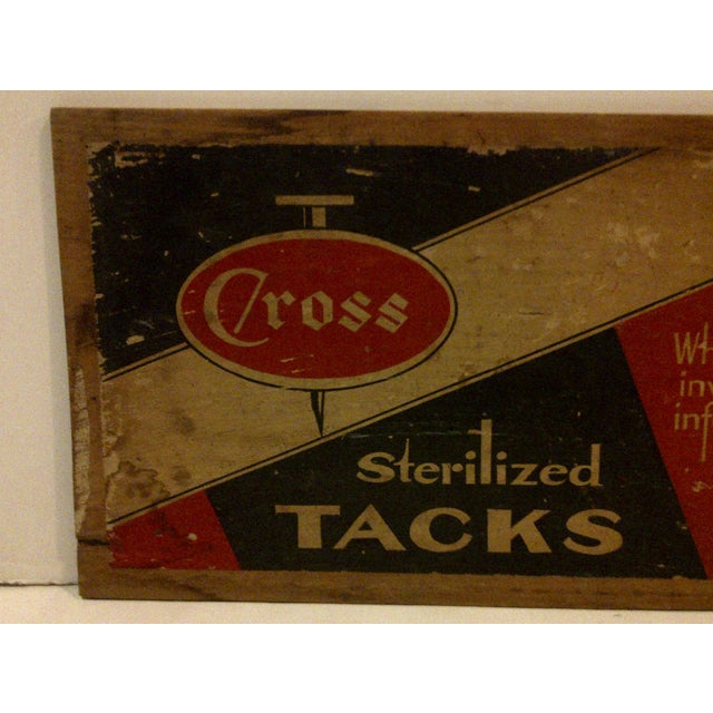 """Rustic Vintage Wood Crate Siding """"Cross Sterilized Tacks"""" For Sale - Image 3 of 5"""