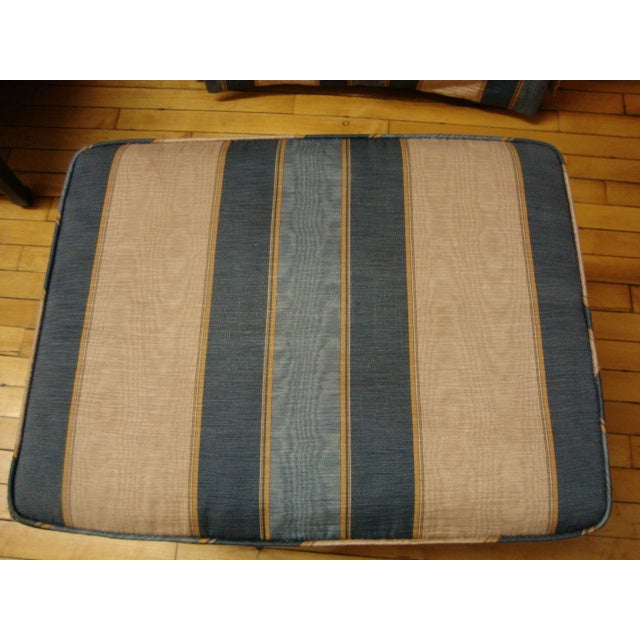 Vintage Moire Satin Armchair and Ottoman - Image 9 of 10