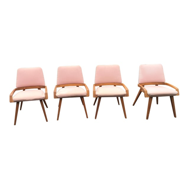 John Keal by Brown Saltzman Dining Room Chairs - Set of 4 For Sale