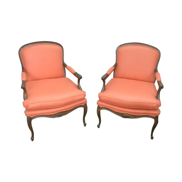 French Louis XV Style Custom Quality Pair of Fauteuils Arm Chairs For Sale - Image 13 of 13