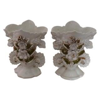 Vieux Paris Wedding Vases - A Pair For Sale