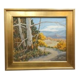 """Image of Victor Matson """"Sycamore Trees"""" California Plein Air Landscape Oil Painting For Sale"""