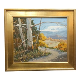 "Victor Matson ""Sycamore Trees"" California Plein Air Landscape Oil Painting For Sale"