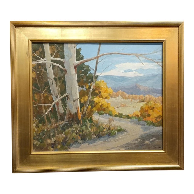 """Victor Matson """"Sycamore Trees"""" California Plein Air Landscape Oil Painting For Sale"""