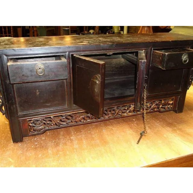 Asian Chinese Altar Coffer Cabinet For Sale - Image 9 of 11