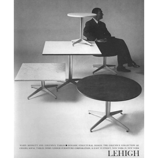 Lehigh Furniture Company Ward Bennett Column X Table for Lehigh Furniture Company For Sale - Image 4 of 7