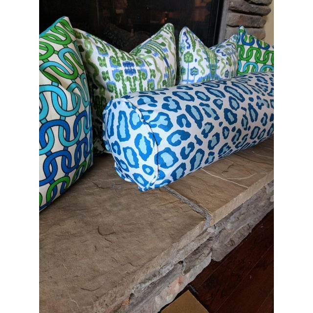 One decorative pillow featuring a leopard design on home decor weight. Placement of the pattern may vary from front to...