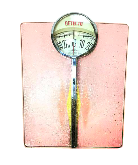 Vintage 1950s Classic Pink Detecto Bathroom Scale