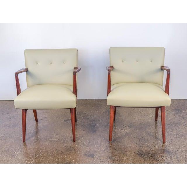Jens Risom Model 108 Walnut Side Chairs - Image 3 of 11