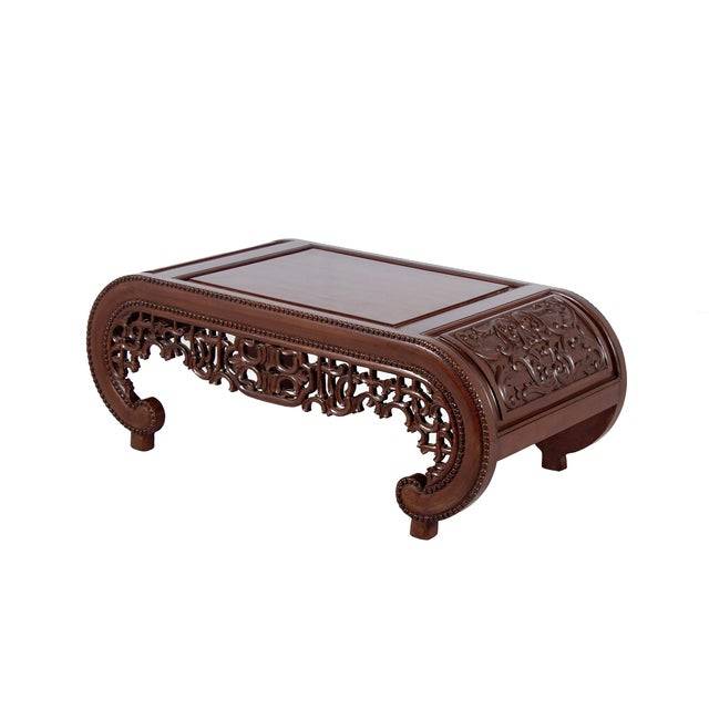 Wooden Carved Chinese Design Coffee Table - Image 2 of 2