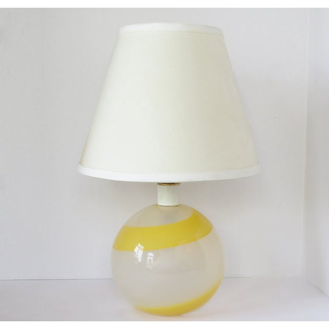 Glass Italian Glass Accent Lamp For Sale - Image 7 of 7