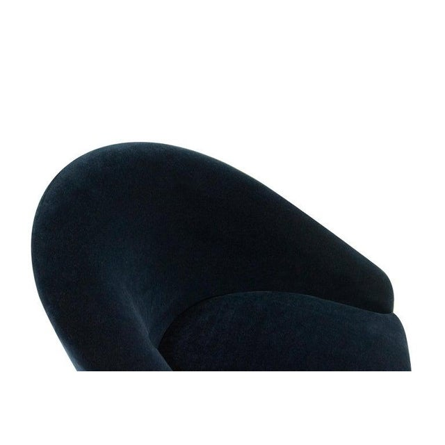 Adrian Pearsall for Craft Associates Swivel Chairs in Deep Blue Mohair For Sale - Image 9 of 12