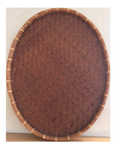 Oval Rattan U0026 Bamboo Basket Tray