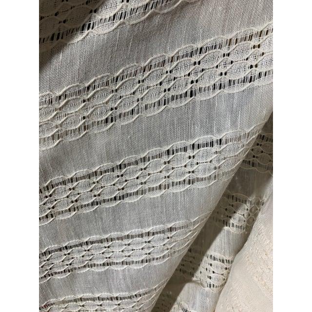 2020s Ralph Lauren Capshaw Linen Sheer Alabaster For Sale - Image 5 of 7