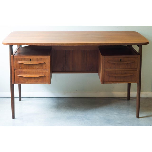 Vintage Danish Maurice Villency Mid-Century Desk Table - Image 2 of 8