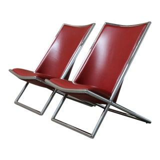 Ward Bennett Scissor Chairs - a Pair
